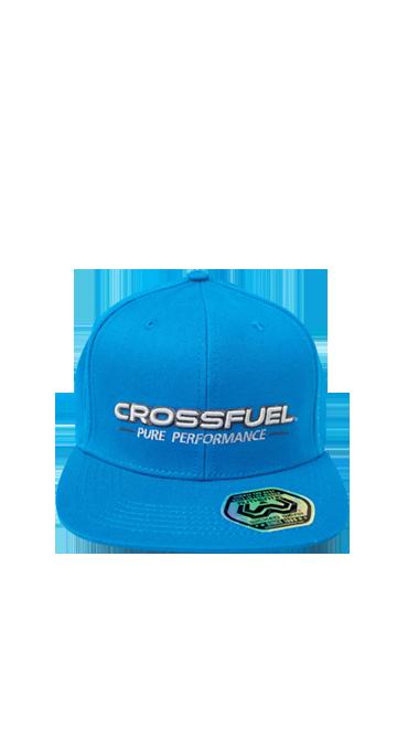 crossfuel snapback hat in blue